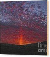 Dark Red Sunset Wood Print