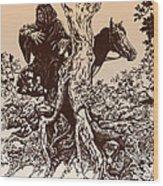 Dark Rider-tolkien Appreciation Wood Print
