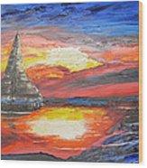 Dark Sail Wood Print