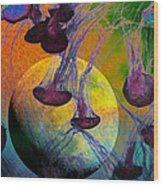 Dark Side Of The Moon 5d24939 Painterly M56 Wood Print