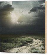 Dark Storm Cloud Wood Print by Boon Mee