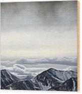 Dark Storm Cloud Mist  Wood Print
