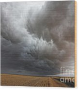 Dark Storm Clouds Wood Print by Boon Mee