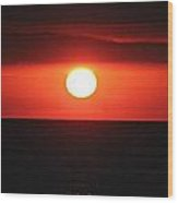 Dark Sun Rising Wood Print