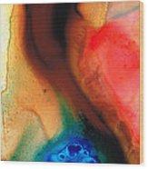 Dark Swan - Abstract Art By Sharon Cummings Wood Print by Sharon Cummings