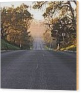 Dark To Light Road Wood Print