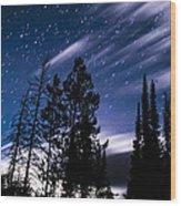 Darkness At Ledgefork Wood Print