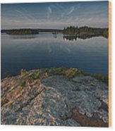 Darky Lake Wood Print