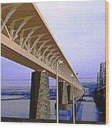 Darnitsky Bridge Wood Print