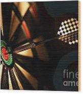 Dart Board In Bar Wood Print