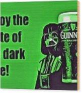 Darth Drinks Guinness Wood Print