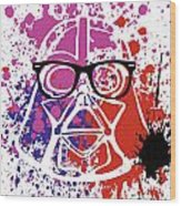 Darth Vader Corrective Lenses Wood Print