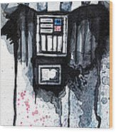 Darth Vader Wood Print by David Kraig