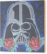 Darth Vader Tattoo Art Wood Print by Gary Niles