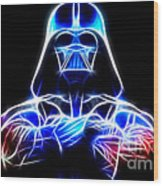 Darth Vader - The Force Be With You Wood Print