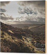 Dartmoor Drama Wood Print
