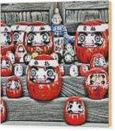 Daruma Dolls Wood Print