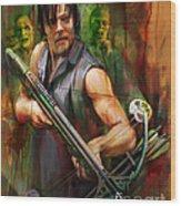 Daryl Dixon Walker Killer Wood Print