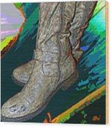 Das Boots Wood Print