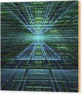 Data Pathways Wood Print