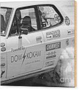 Datsun Smoking Tires Wood Print