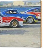 Datsun Z Racers At Sebring Wood Print