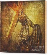 Daughters Of Jerusalem Via Dolorosa 8 Wood Print by Lianne Schneider