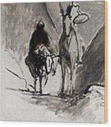 Daumier: Don Quixote Wood Print