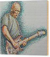 Dave Gilmour Wood Print