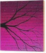 Dave Matthews Band Crush Lyric Art - Pink Wood Print