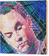 Dave Matthews Open Up My Head Wood Print by Joshua Morton