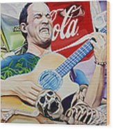 Dave Matthews Seek Up Wood Print
