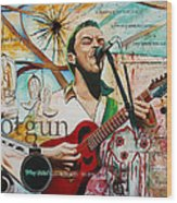 Dave Matthews Shotgun Wood Print by Joshua Morton