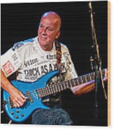 Dave Pegg Bass Player For Fairport Convention And Jethro Tull Wood Print