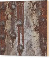 Davenport Railroad Bridge Beam II Wood Print