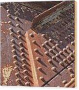 Davenport Railroad Bridge Beam V Wood Print