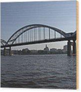 Davenport Skyline And Centennial Bridge Wood Print