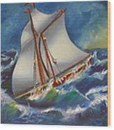 Daves' Ship Wood Print