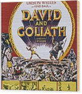 David And Goliath, Aka David E Golia Wood Print