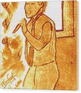 David Archuletta Gold Wood Print