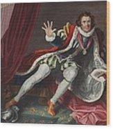David As Richard IIi, Illustration Wood Print