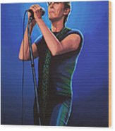 David Bowie 2 Painting Wood Print