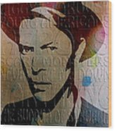 David Bowie Wood Print