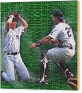David Cone Yankees Perfect Game 1999 Zoom Wood Print