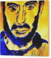 David Copperfield Illusionist Gold 2 Wood Print
