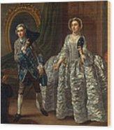 David Garrick And Mrs. Pritchard In Benjamin Hoadley's The Suspicious Husband  Wood Print