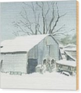 David Hoyles Shed Wood Print