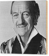 David Niven In Trail Of The Pink Panther  Wood Print by Silver Screen