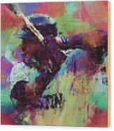 David Ortiz Abstract Wood Print