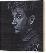 David Tennant 3 Wood Print by Rosalinda Markle